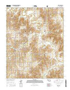 Mackie Oklahoma Current topographic map, 1:24000 scale, 7.5 X 7.5 Minute, Year 2016 from Oklahoma Map Store