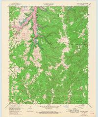 Mannford SE Oklahoma Historical topographic map, 1:24000 scale, 7.5 X 7.5 Minute, Year 1958
