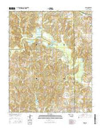 Maud Oklahoma Current topographic map, 1:24000 scale, 7.5 X 7.5 Minute, Year 2016 from Oklahoma Map Store