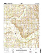 Mayfield Oklahoma Current topographic map, 1:24000 scale, 7.5 X 7.5 Minute, Year 2016 from Oklahoma Map Store