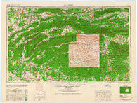 McAlester Oklahoma Historical topographic map, 1:250000 scale, 1 X 2 Degree, Year 1962