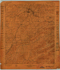 McAlester Oklahoma Historical topographic map, 1:125000 scale, 30 X 30 Minute, Year 1898
