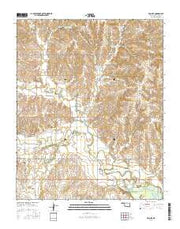 McClure Oklahoma Current topographic map, 1:24000 scale, 7.5 X 7.5 Minute, Year 2016 from Oklahoma Maps Store