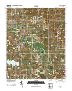 McLoud Oklahoma Historical topographic map, 1:24000 scale, 7.5 X 7.5 Minute, Year 2012