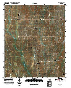 McMillan Oklahoma Historical topographic map, 1:24000 scale, 7.5 X 7.5 Minute, Year 2009
