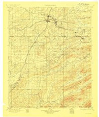 Mc Alester Oklahoma Historical topographic map, 1:125000 scale, 30 X 30 Minute, Year 1898
