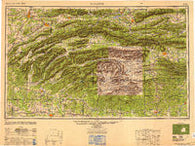 Mcalester Oklahoma Historical topographic map, 1:250000 scale, 1 X 2 Degree, Year 1950