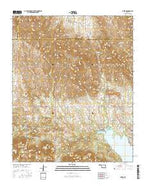 Meers Oklahoma Current topographic map, 1:24000 scale, 7.5 X 7.5 Minute, Year 2016 from Oklahoma Map Store