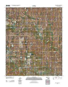 Mill Creek Oklahoma Historical topographic map, 1:24000 scale, 7.5 X 7.5 Minute, Year 2012