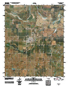 Minco Oklahoma Historical topographic map, 1:24000 scale, 7.5 X 7.5 Minute, Year 2009