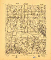 Minco Oklahoma Historical topographic map, 1:62500 scale, 15 X 15 Minute, Year 1893