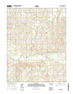 Mocane SE Oklahoma Current topographic map, 1:24000 scale, 7.5 X 7.5 Minute, Year 2016 from Oklahoma Map Store