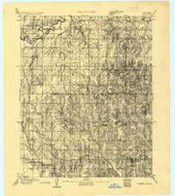 Moore Oklahoma Historical topographic map, 1:62500 scale, 15 X 15 Minute, Year 1892