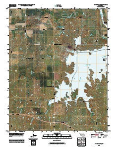 Morrison NE Oklahoma Historical topographic map, 1:24000 scale, 7.5 X 7.5 Minute, Year 2009