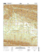 Muse Oklahoma Current topographic map, 1:24000 scale, 7.5 X 7.5 Minute, Year 2016 from Oklahoma Map Store
