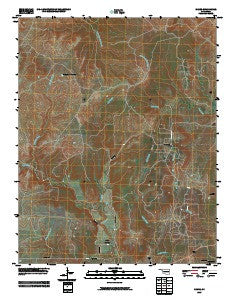 Nanos Oklahoma Historical topographic map, 1:24000 scale, 7.5 X 7.5 Minute, Year 2009