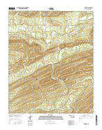 Nashoba Oklahoma Current topographic map, 1:24000 scale, 7.5 X 7.5 Minute, Year 2016 from Oklahoma Map Store