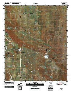 Nebo Oklahoma Historical topographic map, 1:24000 scale, 7.5 X 7.5 Minute, Year 2009