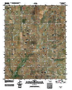 Nellie Oklahoma Historical topographic map, 1:24000 scale, 7.5 X 7.5 Minute, Year 2009