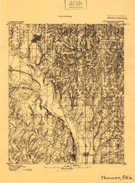 Norman Oklahoma Historical topographic map, 1:96000 scale, 15 X 15 Minute, Year 1893