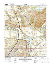 Northeast Muskogee Oklahoma Current topographic map, 1:24000 scale, 7.5 X 7.5 Minute, Year 2016