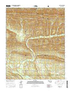 Octavia Oklahoma Current topographic map, 1:24000 scale, 7.5 X 7.5 Minute, Year 2016 from Oklahoma Map Store