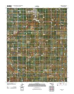 Okeene Oklahoma Historical topographic map, 1:24000 scale, 7.5 X 7.5 Minute, Year 2012