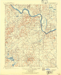 Okmulgee Oklahoma Historical topographic map, 1:125000 scale, 30 X 30 Minute, Year 1896