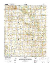 Okmulgee NE Oklahoma Current topographic map, 1:24000 scale, 7.5 X 7.5 Minute, Year 2016
