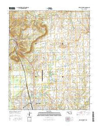 Okmulgee North Oklahoma Current topographic map, 1:24000 scale, 7.5 X 7.5 Minute, Year 2016