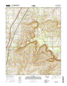 Oktaha Oklahoma Current topographic map, 1:24000 scale, 7.5 X 7.5 Minute, Year 2016
