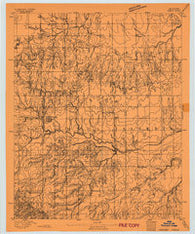 Omega Oklahoma Historical topographic map, 1:62500 scale, 15 X 15 Minute, Year 1893