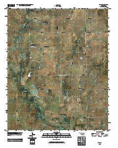 Orr Oklahoma Historical topographic map, 1:24000 scale, 7.5 X 7.5 Minute, Year 2009
