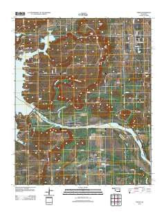 Porum Oklahoma Historical topographic map, 1:24000 scale, 7.5 X 7.5 Minute, Year 2012