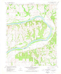 Prettyhair Creek Oklahoma Historical topographic map, 1:24000 scale, 7.5 X 7.5 Minute, Year 1978