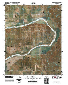 Prettyhair Creek Oklahoma Historical topographic map, 1:24000 scale, 7.5 X 7.5 Minute, Year 2009