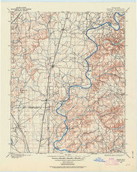 Pryor Oklahoma Historical topographic map, 1:125000 scale, 30 X 30 Minute, Year 1896