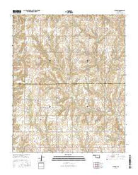 Putnam Oklahoma Current topographic map, 1:24000 scale, 7.5 X 7.5 Minute, Year 2016