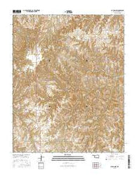 Putnam NW Oklahoma Current topographic map, 1:24000 scale, 7.5 X 7.5 Minute, Year 2016