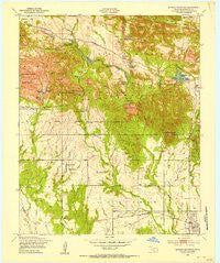Quanah Mountain Oklahoma Historical topographic map, 1:24000 scale, 7.5 X 7.5 Minute, Year 1949