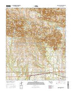 Quanah Mountain Oklahoma Current topographic map, 1:24000 scale, 7.5 X 7.5 Minute, Year 2016 from Oklahoma Map Store