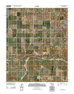 Quanah NE Oklahoma Historical topographic map, 1:24000 scale, 7.5 X 7.5 Minute, Year 2012