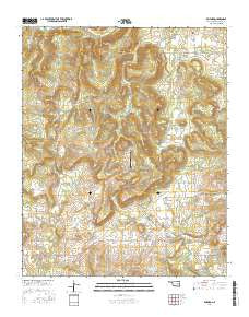 Raiford Oklahoma Current topographic map, 1:24000 scale, 7.5 X 7.5 Minute, Year 2016