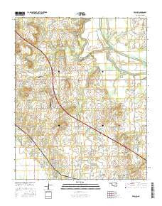 Red Bird Oklahoma Current topographic map, 1:24000 scale, 7.5 X 7.5 Minute, Year 2016