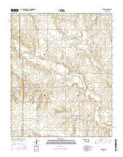 Retrop Oklahoma Current topographic map, 1:24000 scale, 7.5 X 7.5 Minute, Year 2016 from Oklahoma Maps Store