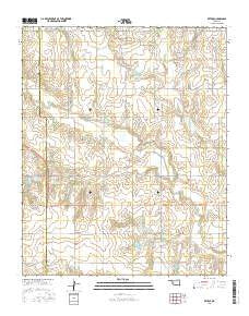 Retrop Oklahoma Current topographic map, 1:24000 scale, 7.5 X 7.5 Minute, Year 2016