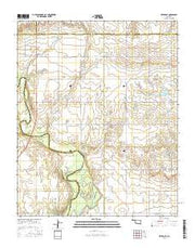 Retrop SE Oklahoma Current topographic map, 1:24000 scale, 7.5 X 7.5 Minute, Year 2016 from Oklahoma Maps Store