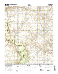 Retrop SE Oklahoma Current topographic map, 1:24000 scale, 7.5 X 7.5 Minute, Year 2016