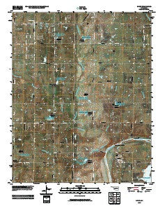 Ripley Oklahoma Historical topographic map, 1:24000 scale, 7.5 X 7.5 Minute, Year 2009