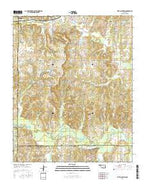 Ritts Junction Oklahoma Current topographic map, 1:24000 scale, 7.5 X 7.5 Minute, Year 2016 from Oklahoma Map Store